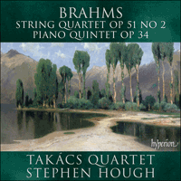 Cover of CDA67551 - Brahms: String Quartet & Piano Quintet