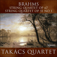 Cover of CDA67552 - Brahms: String Quartets Opp 67 & 51/1