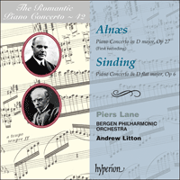 Cover of CDA67555 - Aln�s & Sinding: Piano Concertos