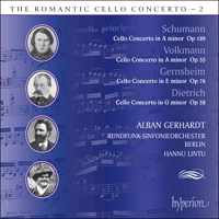 Cover of CDA67583 - The Romantic Cello Concerto, Vol. 2 � Volkmann, Dietrich, Gernsheim & Schumann