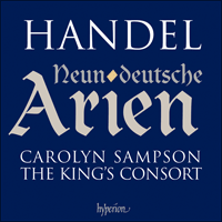Cover of CDA67627 - Handel: German Arias