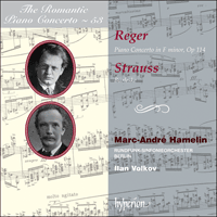 Cover of CDA67635 - Reger & Strauss: Piano Concertos
