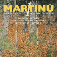 Cover of CDA67671 - Martinu: Complete music for violin & orchestra, Vol. 1