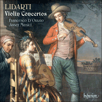 Cover of CDA67685 - Lidarti: Violin Concertos