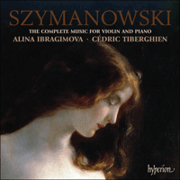Cover of CDA67703 - Szymanowski: Complete music for violin & piano
