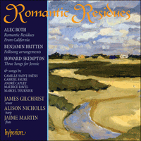Cover of CDA67725 - Romantic Residues � Songs for tenor & harp