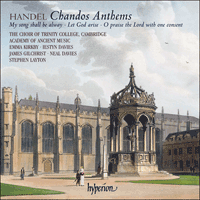 Cover of CDA67737 - Handel: Chandos Anthems Nos 7, 9 & 11a