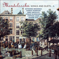 Cover of CDA67739 - Mendelssohn: Songs and Duets, Vol. 4
