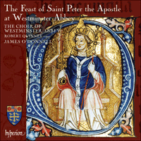 Cover of CDA67770 - The Feast of St Peter at Westminster Abbey