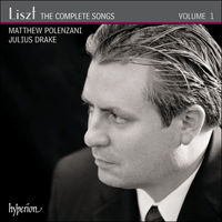 Cover of CDA67782 - Liszt: The Complete Songs, Vol. 1 � Matthew Polenzani