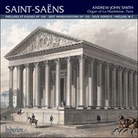 CDA67815 - Saint-Sa�ns: Organ Music, Vol. 2 - La Madeleine, Paris
