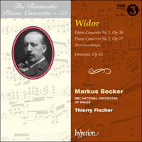 Cover of CDA67817 - Widor: Piano Concertos & Fantaisie