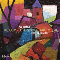 Cover of CDA67871 - Dohn�nyi: The Complete Solo Piano Music, Vol. 1