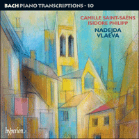 Cover of CDA67873 - Bach: Piano Transcriptions, Vol. 10 � Saint-Sa�ns & Philipp