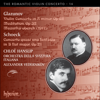 CDA67940 - Glazunov & Schoeck: Works for violin and orchestra