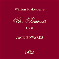 Cover of CDH88021 - Shakespeare: The Sonnets, Vol. 1