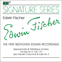 APR5502 - Edwin Fischer � The First Beethoven Sonata Recordings