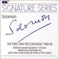 APR5503 - Solomon � The first HMV recordings