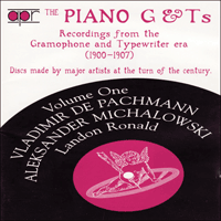 APR5531 - The Piano G & Ts, Vol. 1 � Vladimir de Pachmann, Aleksander Michalowski & Landon Ronald
