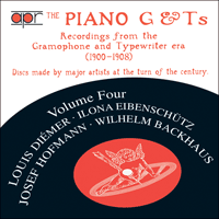 APR5534 - The Piano G & Ts, Vol. 4 � Di�mer, Eibensch�tz, Hofmann & Backhaus