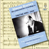 APR5621 - Simon Barere � His celebrated live recordings at Carnegie Hall, Vol. 1 � 1946