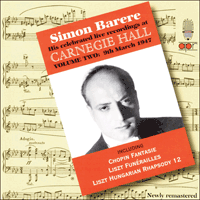 APR5622 - Simon Barere � His celebrated live recordings at Carnegie Hall, Vol. 2 � 9 March 1947