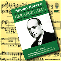 APR5623 - Simon Barere � His celebrated live recordings at Carnegie Hall, Vol. 3 � 11 November 1947