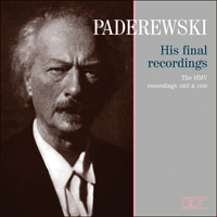 APR5636 - Paderewski � His final recordings