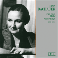 APR5643 - Gina Bachauer � The first HMV recordings
