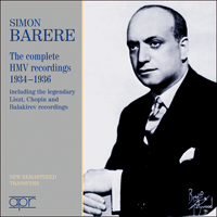 APR6002 - Simon Barere � The complete HMV recordings 1934�1936