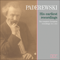 APR6006 - Paderewski � His earliest recordings