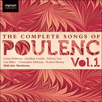 SIGCD247 - Poulenc: The Complete Songs, Vol. 1