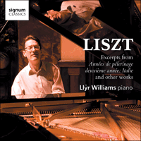 SIGCD290 - Liszt: Excerpts from Ann�es de p�lerinage - Italie & other works