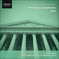 SIGCD292 - Widor: The Organ Symphonies, Vol. 1