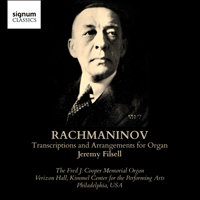 SIGCD324 - Rachmaninov: Transcriptions and arrangements for organ