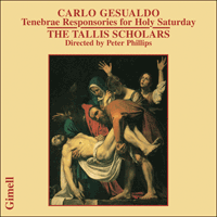 CDGIM015 - Gesualdo: Tenebrae Responsories for Holy Saturday
