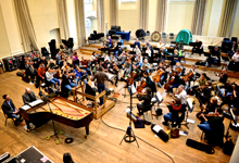Marc-André Hamelin, Vladimir Juroswki and the London Philharmonic Orchestra recording in Henry Wood Hall, London