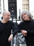 Steven Isserlis and Paavo Järvi taking a break from the recording