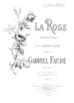 La rose 'Ode anacr�ontique', Op 51 No 4