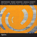 Beethoven: Piano Sonatas Opp 14/1, 31/1, 49 & 81a