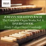 Johann Sebastian Bach: The Complete Organ Works, Vol. 4 (Trinity College Chapel, Cambridge)