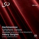 Rachmaninov : Danses symphoniques / Stravinski : Symphonie en 3 mvts