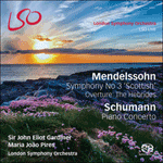 Mendelssohn: Symphony No. 3, 'Scottish' - Overture: The Hebrides - Schumann: Piano Concerto