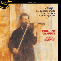 CDH55226 - Ysaÿe: Sonatas for solo violin & other works