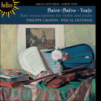 CDH55353 - Saint-Saëns & Ysaÿe: Rare transcriptions for violin and piano