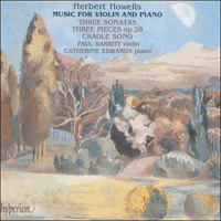 CDA66665 - Howells: Music for violin and piano