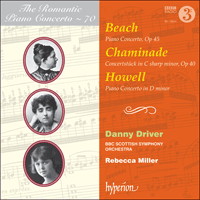CDA68130 - Beach, Chaminade & Howell: Piano Concertos