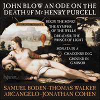 CDA68149 - Blow: An Ode on the Death of Mr Henry Purcell & other works