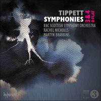 Tippett: Symphonies Nos 3, 4 & B flat - CDA68231/2 - Sir