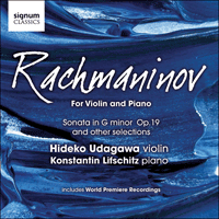 SIGCD164 - Rachmaninov: Violin Sonata & other works